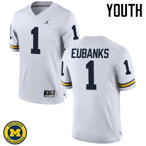 Michigan Wolverines #1 Nick Eubanks Youth White College Football Jersey 860382-297