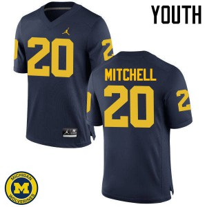 Michigan Wolverines #20 Matt Mitchell Youth Navy College Football Jersey 619513-987