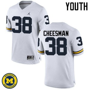 Michigan Wolverines #38 Cameron Cheesman Youth White College Football Jersey 826501-720