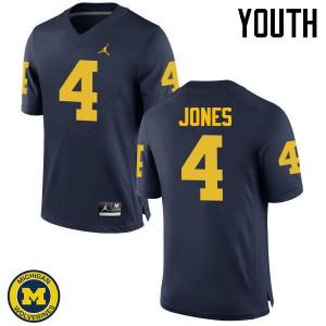 Michigan Wolverines #4 Reuben Jones Youth Navy College Football Jersey 468996-954