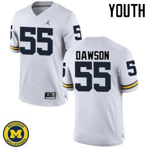 Michigan Wolverines #55 David Dawson Youth White College Football Jersey 283013-967