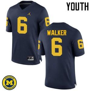 Michigan Wolverines #6 Kareem Walker Youth Navy College Football Jersey 635423-442