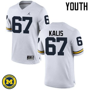 Michigan Wolverines #67 Kyle Kalis Youth White College Football Jersey 997094-325
