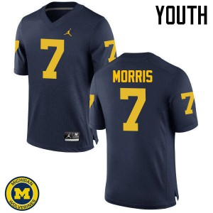 Michigan Wolverines #7 Shane Morris Youth Navy College Football Jersey 552636-692