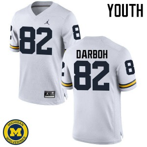 Michigan Wolverines #82 Amara Darboh Youth White College Football Jersey 595079-169