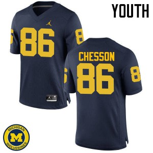 Michigan Wolverines #86 Jehu Chesson Youth Navy College Football Jersey 506046-403