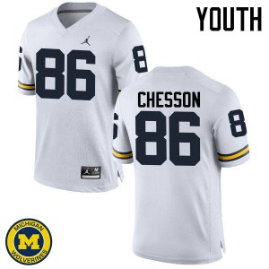 Michigan Wolverines #86 Jehu Chesson Youth White College Football Jersey 737243-408