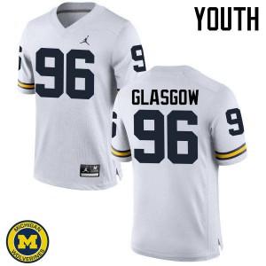 Michigan Wolverines #96 Ryan Glasgow Youth White College Football Jersey 260563-282