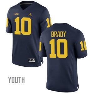 Michigan Wolverines #10 Tom Brady Youth Navy Stitched Jersey 689630-553